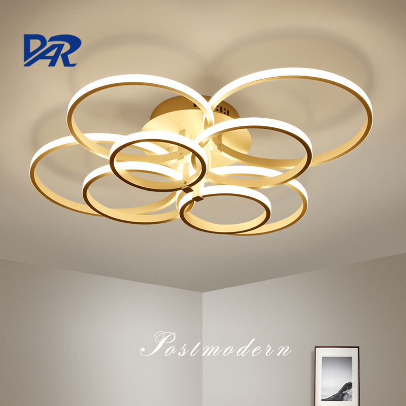White Acrylic Rings Modern Led Ceiling Lights For Living Room Bedroom Lamparas De Techo Dimming Led Ceiling Lights Lamp Fixtures