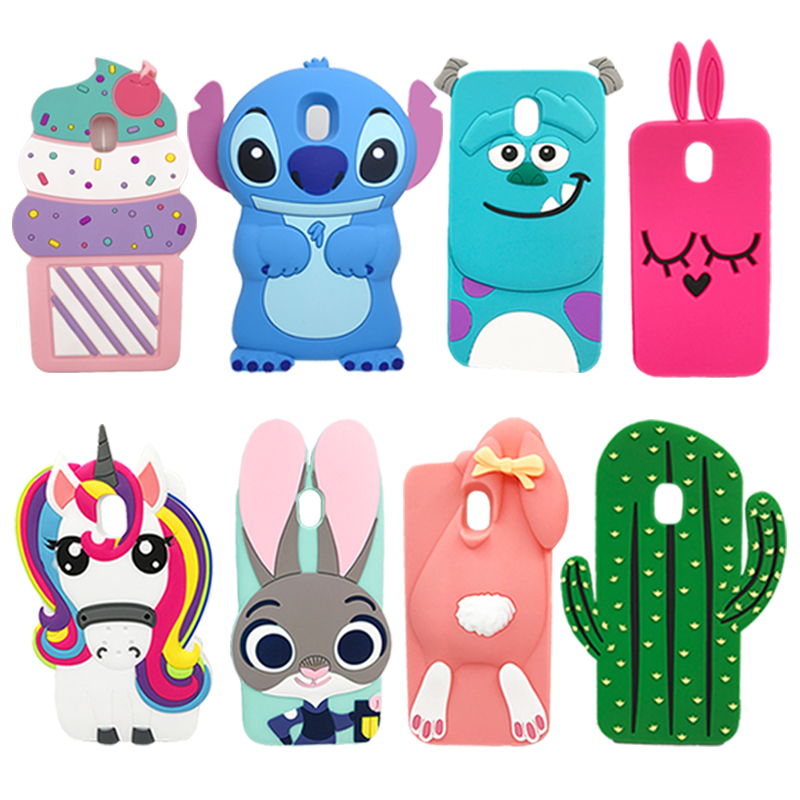 huge discount 8a381 21617 US $2.16 18% OFF|For Samsung J3 2017 Case Cute 3D Unicorn Minnie Stitch  Soft Silicone Phone Protective Cover Case For Samsung Galaxy J3 2017  J330-in ...
