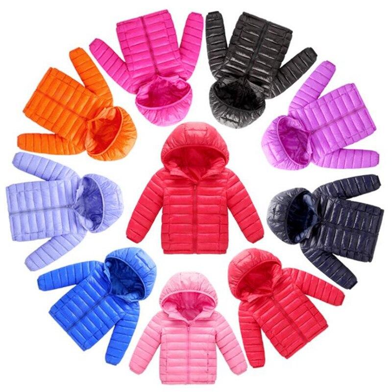 3-12Yrs DE LOS NIÑOS prendas de vestir exteriores y capa muchacha frío invierno cálido Abrigo con capucha niños ropa chico abajo chaqueta