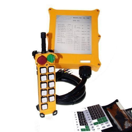 цена на 12V-415V 10 Channels 2 Speed 1 Transmitter Control Hoist Crane Remote Control System E-Stop