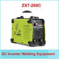 Бесплатная доставка инвертор постоянного тока IGBT сварочное оборудование MMA сварочный аппарат ZX7 200C с комплектом принадлежностей