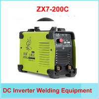 free shipping IGBT DC Inverter Welding Equipment MMA Welding Machine ZX7 200C with Complete Accessories