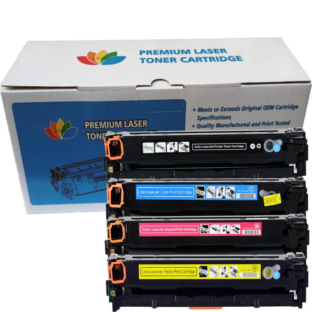 4 Pack Compatible Toner For Hp 205a CF530A CF531A CF532A CF533A For HP LaserJet M154 M180 M181 Printer