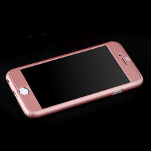 "For iPhone 7 6/6s 4.7"" Case Tempered Glass + Full Body Rose Gold Front Back Phone Case Cover"