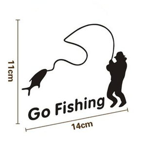 Image 3 - Outdoor Sports Fishing GO FISHING Stickers Car Accessories Car Stickers Decals Black Silver