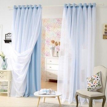 Sunnyrain 1 sola pieza de doble capa cortina de lujo cortinas para ...