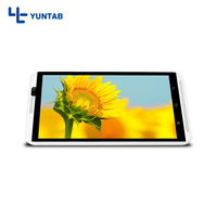New!! Yuntab 4g cellphone H8 Android 6.0 Tablet PC Quad Core 2GB/16GB with dual camera bluetooth 4.0 support SIM card(white)