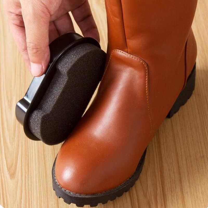 Incolor Sapatos Escova Grande Multi-função Double-sided Esponja Cera Rápida Brilho Líquido de Polimento Escova De Limpeza de Couro