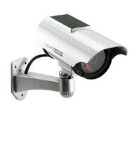 Solar Power Imitation High Simulation CCTV Camera Dummy Camera Fake Monitor Waterproof Outdoor Surveillance Camera