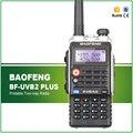 BF-UVB2 Plus Walkie Talkie Baofeng 5 W de Energia Portátil Rádio em Dois Sentidos VHF UHF UV Dual Band Walkie Talkie UVB2 Além de fone de Ouvido Livre