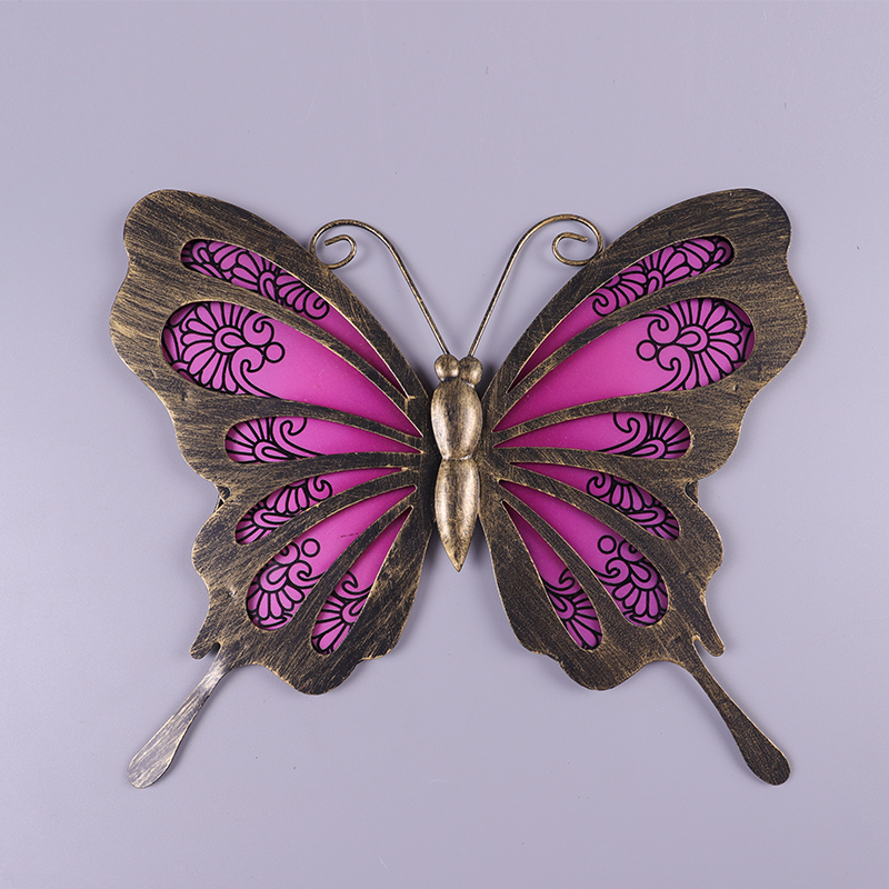 Garden Butterfly of Wall Artwork for Home and Outdoor Decorations Statues Miniatures Sculptures 5