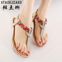 2017 Female Bohemia Sexy Sandals Beach Summer Girls Flip Flops Casual Shoes Gladiator Fashion Cute Women