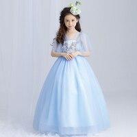 Girls Maxi Dresses Baby Clothes Party Tutu dress Flower Girls Wedding Princess Dress Kids 4T 5 6 7 8 9 10 11 12 13 15 years old