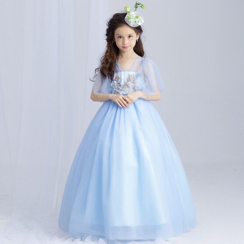 Filles Maxi robes bébé vêtements fête Tutu robe fleur filles mariage princesse robe enfants 4 T 5 6 7 8 9 10 11 12 13 15 ans