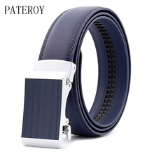 PATEROY Belt Men's Genuine Leather For Jeans Designer Belts For Men High Quality Automatic Buckle Strap Luxury Ceinture Homme zoibkd high quality re 2000b motor automatic lifting rotary evaporator evaporation apparatus for laboratory vacuum distillation