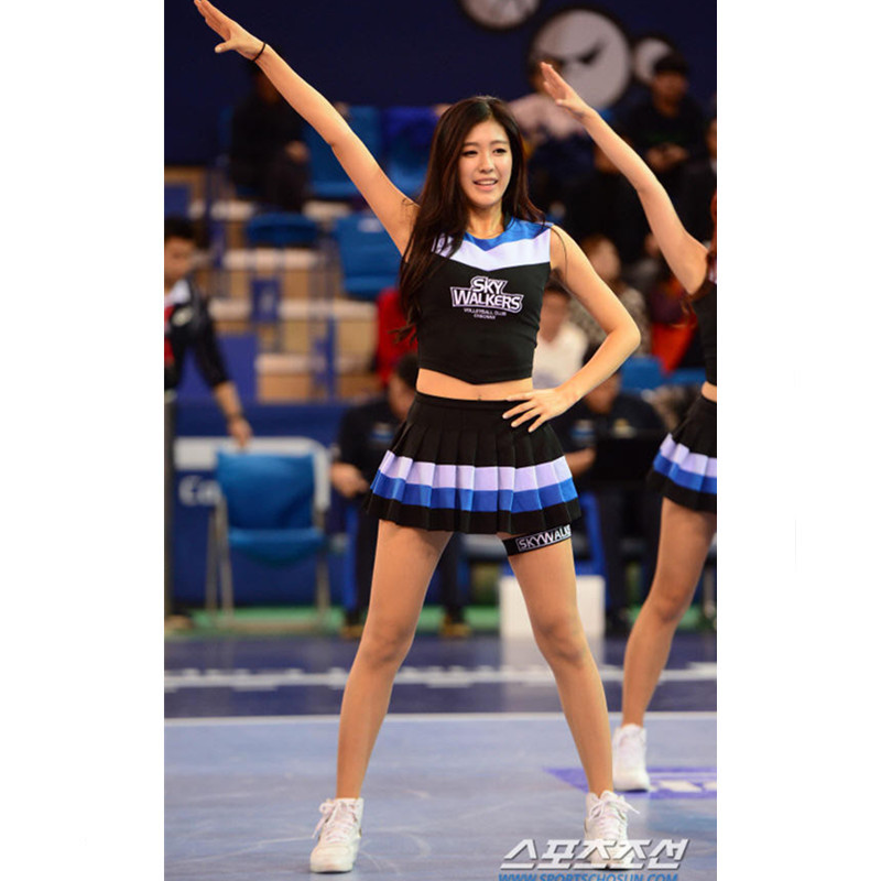 High School Cheer Musical Glee Cheerleader Costumes Sexy Baseball Aerobics Dance Cheerleading Outfit Top+Skirts