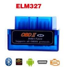 Newest V2.1 Super Mini ELM327 Bluetooth Interface Auto Car Scanner For Android Bluetooth elm 327 OBD2 OBD II Car Diagnostic Tool