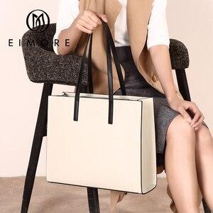 Image 5 - EIMORE 大容量ハンドバッグ女性の本革ビッグトートバッグ女性のショルダーバッグシンプルな女性の高級ブランドバッグ