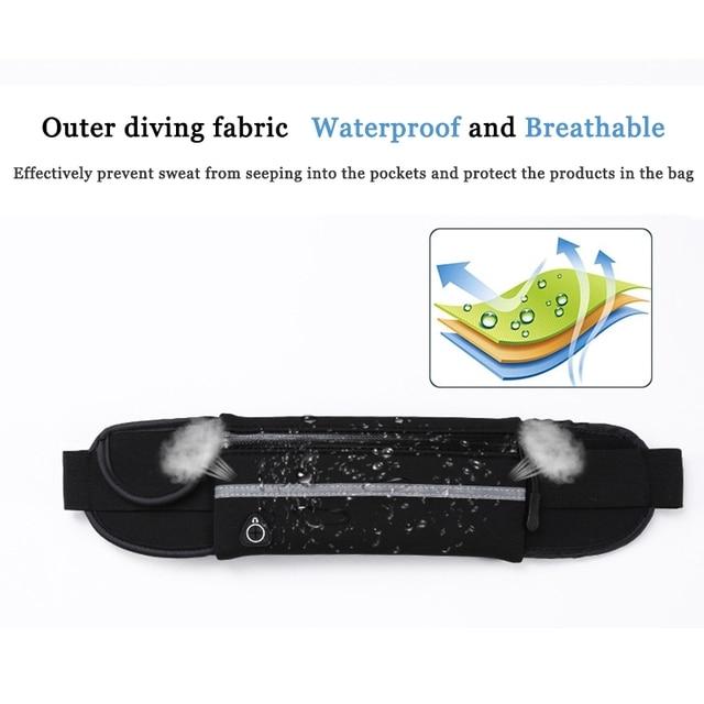 2021 Fashion Waist Pack Men Women Waterproof Phone Belt Nylon Casual Small Bag For Traveling Running Sport Belly Bags 3