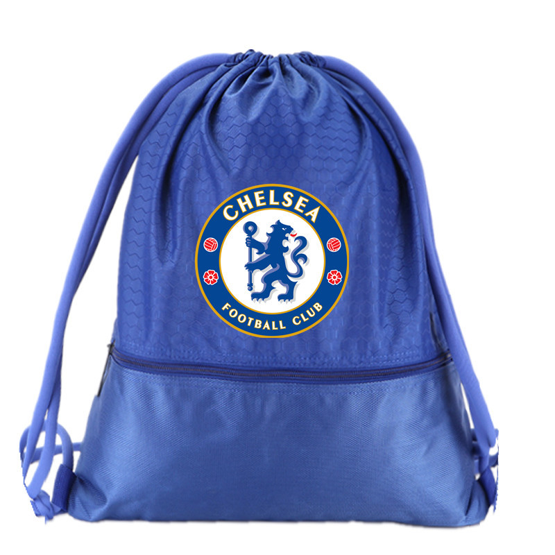 Chelsea Drawstring Soccer Bag Football Clubs Swerve Gym Bag Backpack Sport Bag Advanced Materials Waterproof and