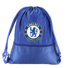 Chelsea Drawstring Soccer Bag Football Clubs Swerve Gym Bag Backpack Sport Bag Advanced Materials Waterproof and Durable