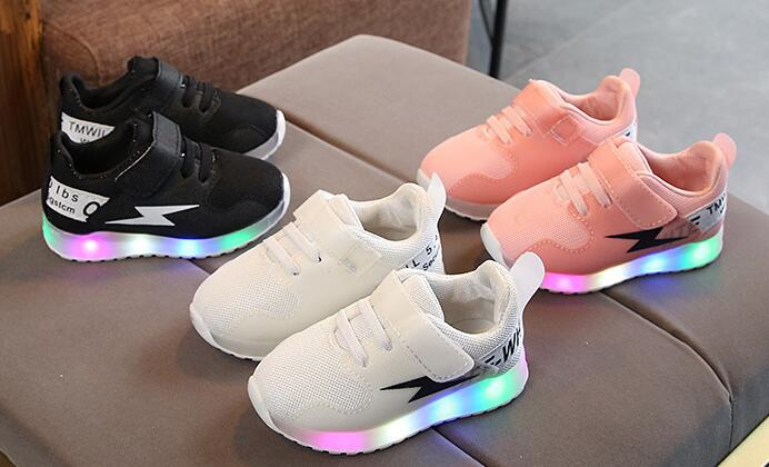AI LIANG fashion LED light breathable children shoes high quality tennis sports kids sneakers elegant running girls boys toddler