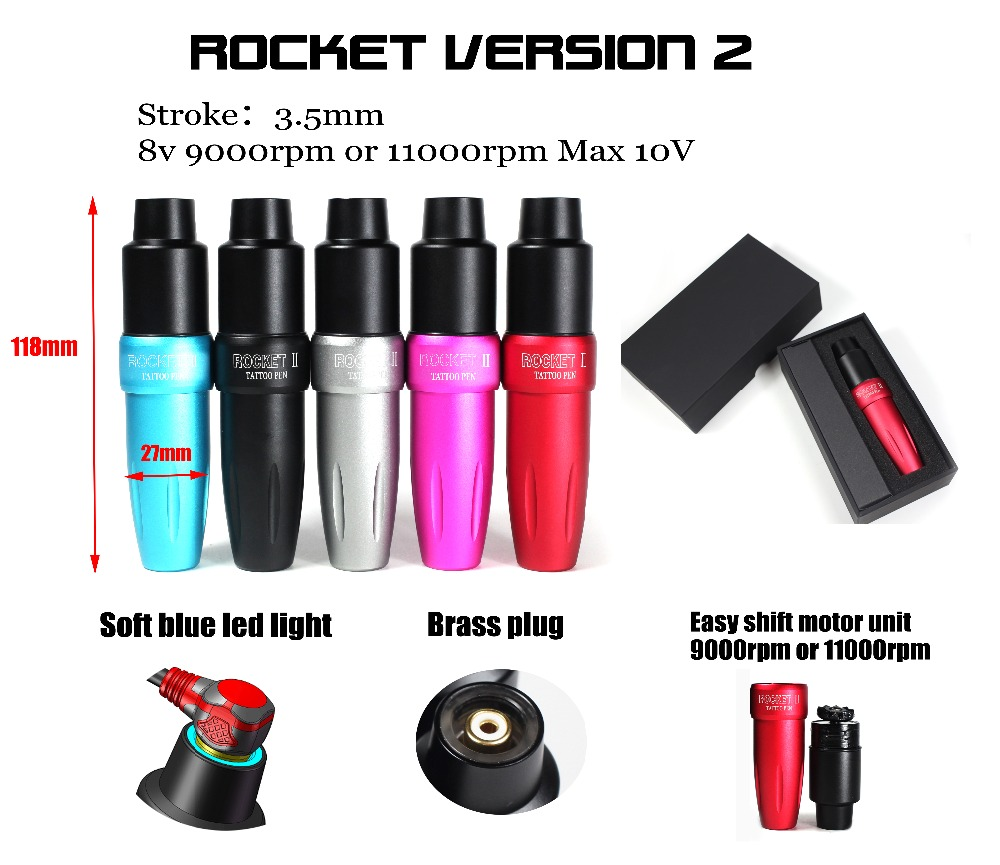 2018 Newest! Luckybuybox Tattoo Pen Rotary Cartridge LED Light Space Aluminum Permanent Makeup Eyebrow Tattoo machine Rocket II2018 Newest! Luckybuybox Tattoo Pen Rotary Cartridge LED Light Space Aluminum Permanent Makeup Eyebrow Tattoo machine Rocket II