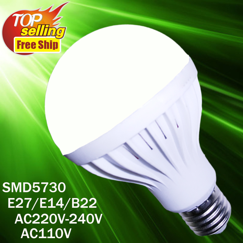 Led Lamp E27 3W 5W 7W 9W 12W 220V 110V 240V E27 Bulb E14 Light SMD 5730 Warm Cool White Led Bulb xunruixing p 005 e27 5w 320lm 8350k 20 smd 2835 led cool white light bulb white ac 220v