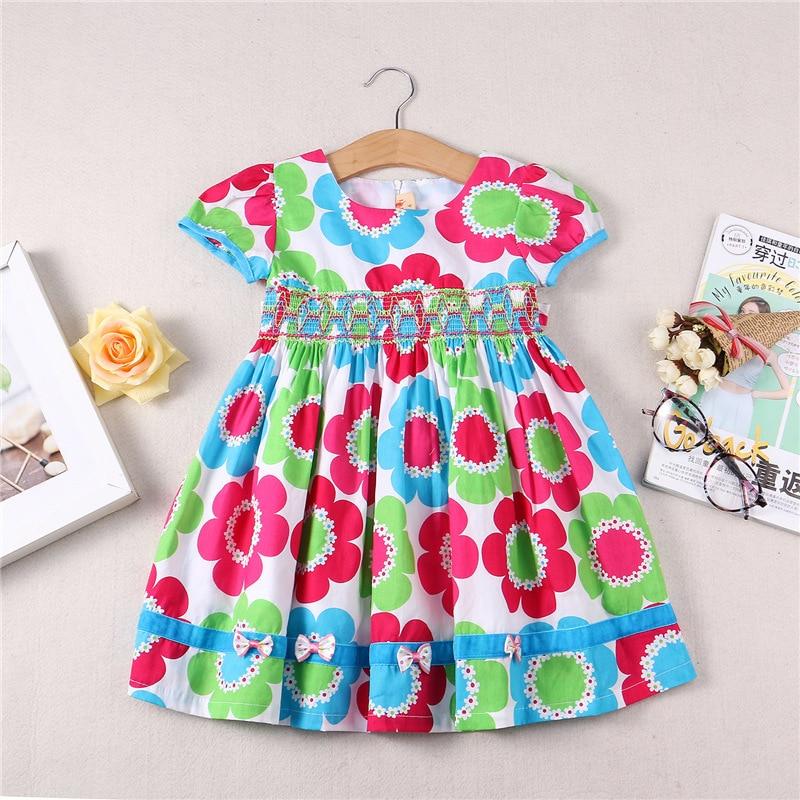Girls Flower Dress Summer Cotton Dress Toddler Girls princess Dress Kids clothing Dress girl party wear