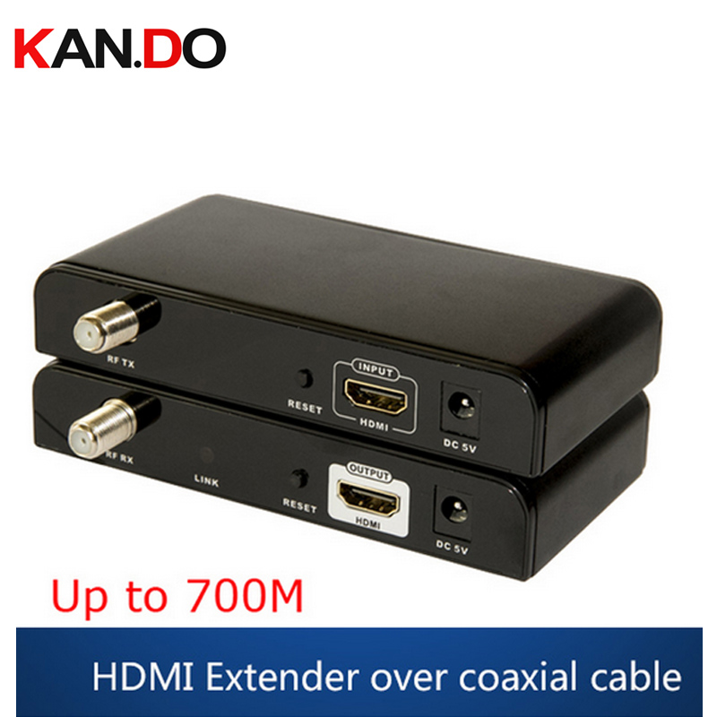 379 HDMI Audio Video Extender 99 Channels HD 1080P H.264 HDMI To RF HDMI Extender Transmitter & Receiver CATV Video Adapter