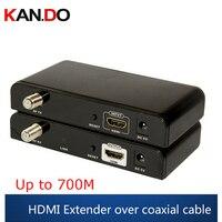 379 HDMI audio video Extender 99 Kanäle HD 1080 p H.264 HDMI zu RF HDMI Extender Sender & Empfänger CATV video adapter-in Getriebe & Kabel aus Sicherheit und Schutz bei
