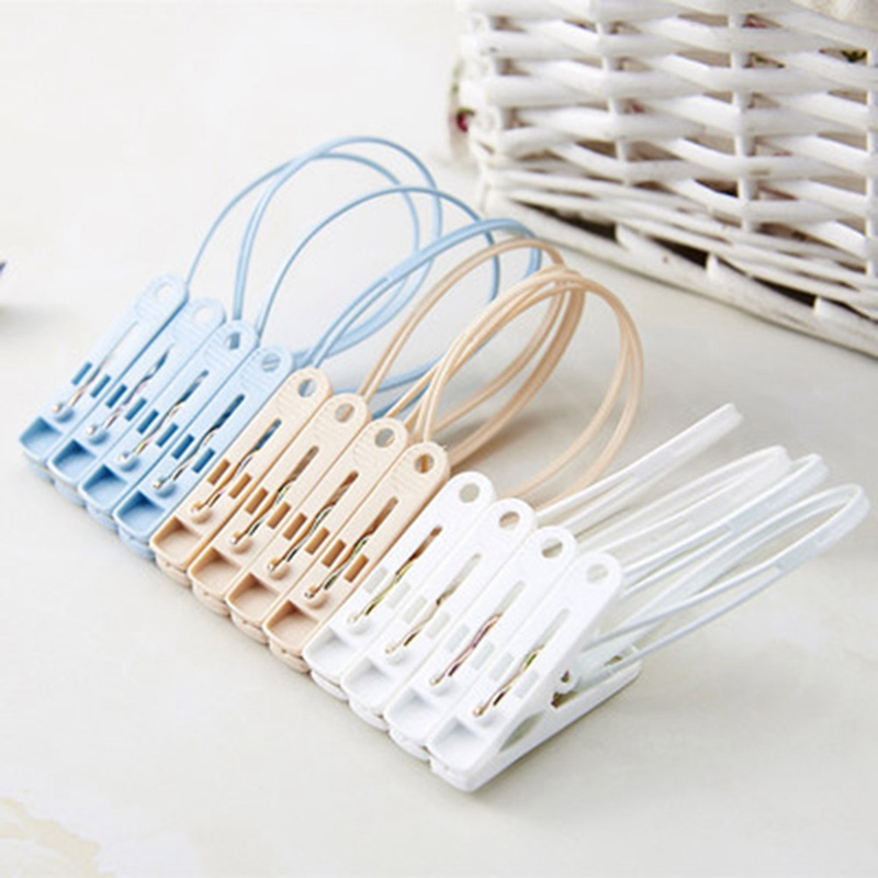 12Pcs/Set PP Clothes Pegs Portable Home Hangers Rack Towel Clothespin Windproof Clothes Pegs Mixed color 12PCs