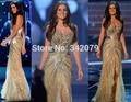 Ph07711 de Miss Universo Impresionantes Vestidos de La Celebridad de Oro Prom Vestidos Zuhair Murad Vestidos Boho Vestido de Fiesta Elegante Vestido de Miss Mundo