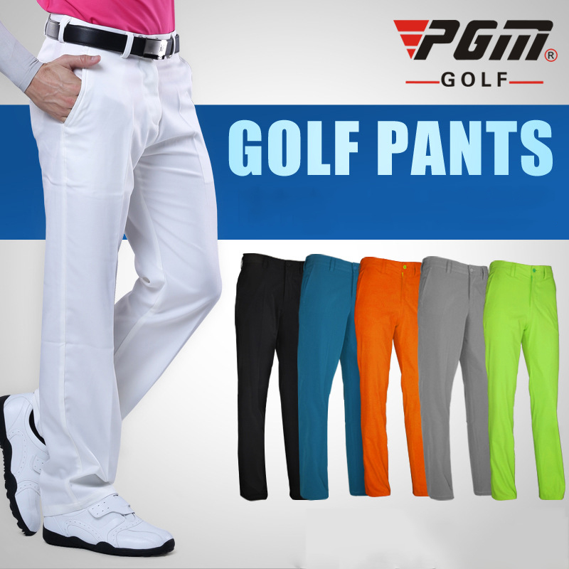 PGM Colorful Golf Pants For Men Solid Winter Waterproof Breathable Hight Elasticity Quick Dry Man's Golf Pants Sports Trousers pgm autumn winter waterproof men golf trousers thick keep warm windproof long pants vetements de golf pour hommes golf clothing