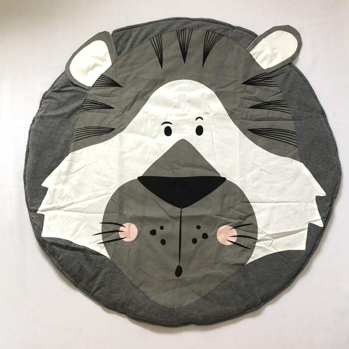 95 см детская игра коврики круглый коврик, мат хлопок Лебедь Ползания одеяло пол ковер для детской комнаты украшения INS подарки для малышей - Цвет: Lion King