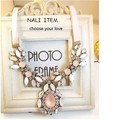 Hot Factory Price JUJIA Brand Fashion Luxury Jelly Pink Acrylic Z Necklace & Pendant Style Necklace pink opal crystal