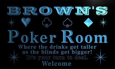 x1005-tm Browns Poker Room Casino Custom Personalized Name Neon Sign Wholesale Dropshipping On/Off Switch 7 Colors DHL