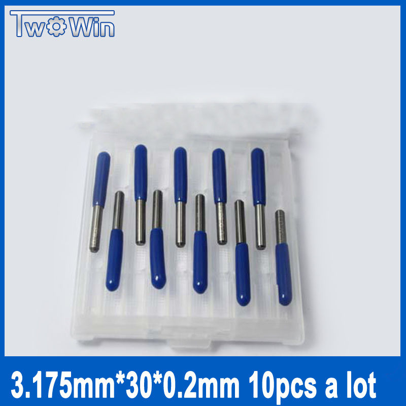 10pcs Mini PCB Drill Bits Tungsten Stell Cardbide Wood PCB Drill Bit Milling Machine Tools 3.17mm Shank, Length 30mm цена