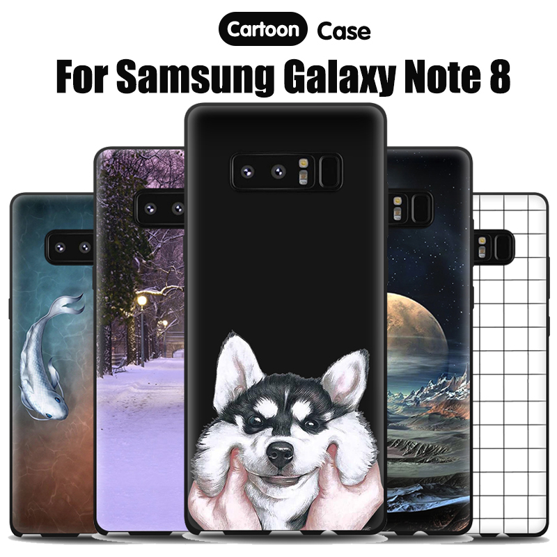 JURCHEN Silicone Soft Tpu For <font><b>Samsung</b></font> <font><b>Galaxy</b></font> <font><b>Note</b></font> <font><b>8</b></font> Case N950 N950F <font><b>N950n</b></font> N950u N9500 N950fd Back Cover For <font><b>Samsung</b></font> <font><b>Note</b></font> <font><b>8</b></font> Case image