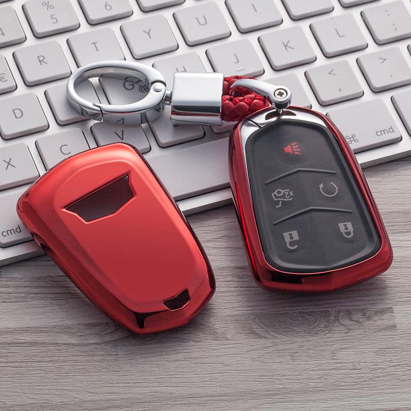 TPU Tampa do Controle Remoto Inteligente Chave Fob Caso Shell Para Cadillac ATS CTS DTS CT6 XT5 SRX STS Escalade ESV XTS ELR 2014 2015 2016 2017 2018