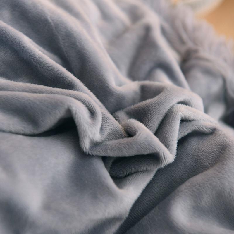 Famvotar Luxury Plush Shaggy Bedding Set 1 Faux Fur Duvet Cover 1 Quilted Ruffle Bedskirt 2 Pompoms Fringe Pillow Shams in Bedding Sets from Home Garden