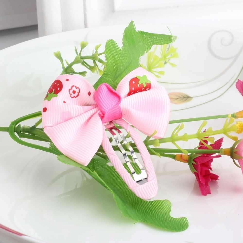 M MISM 2 ピース/ロットベビーヘアー弓女の子のためのヘア装飾品キャンディーの色ドットチェック柄子供ヘアピン Haaraccessoire マシン用 Meisjes