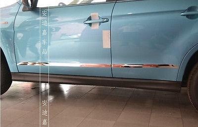 Chrome Car Door Body Molding Cover Trim for Mitsubishi ASX/Outlander Sport 13-15 for mitsubishi mitsubishi asx outlander sport rvr 2011 2012 2013 chrome car door handle cover exterior accessories