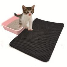 Pet Cat Litter Mat EVA Double-Layer Trapper Mats with Waterproof Bottom Layer non-slip pet litter Foldable