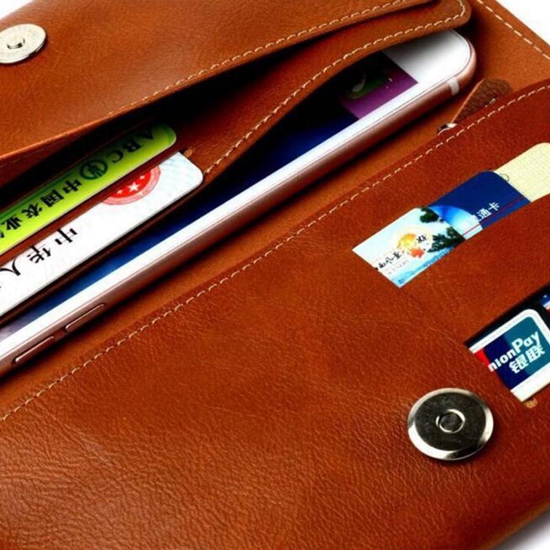 STOD Telefon Çantası Cüzdan PU İPhone 6S 7 8 X Plus Samsung - Cib telefonu aksesuarları və hissələri - Fotoqrafiya 4