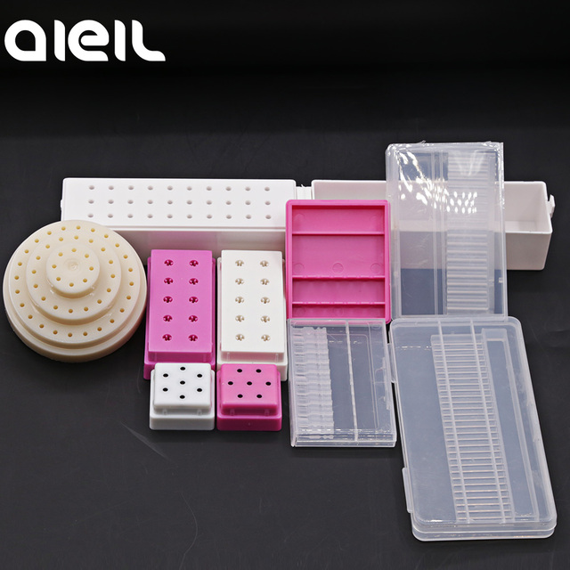 Stand Display Container Holder Nail Drill Bit Storage Box For Nail Drill Bit Holder Milling Cutter For Manicure Tool Accessories 1