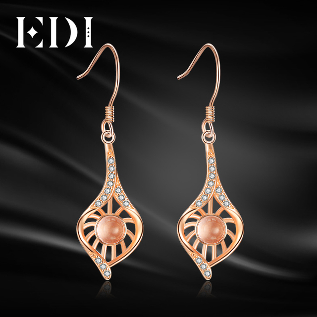 Fine Jewelry Quartz Sterling Silver Drop Earrings FuuBB