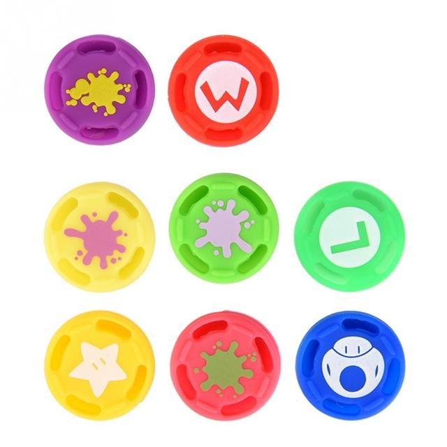 8Pcs Replacement Silicone Analog Controller Joystick Thumb Stick Grip Cap Cover For Switch PRO