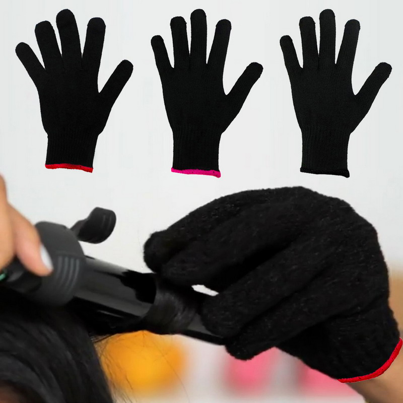 1 Pc Professional Heat Resistant Glove Barber Accessory Hair Styling Tool For Curling Straight Flat Iron Black Styling Accessory