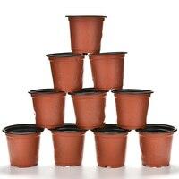 10 pçs dupla cor plástico jardim vaso de flores mini vaso de flores casa jardim plantador pote plástico inquebrável berçário potes